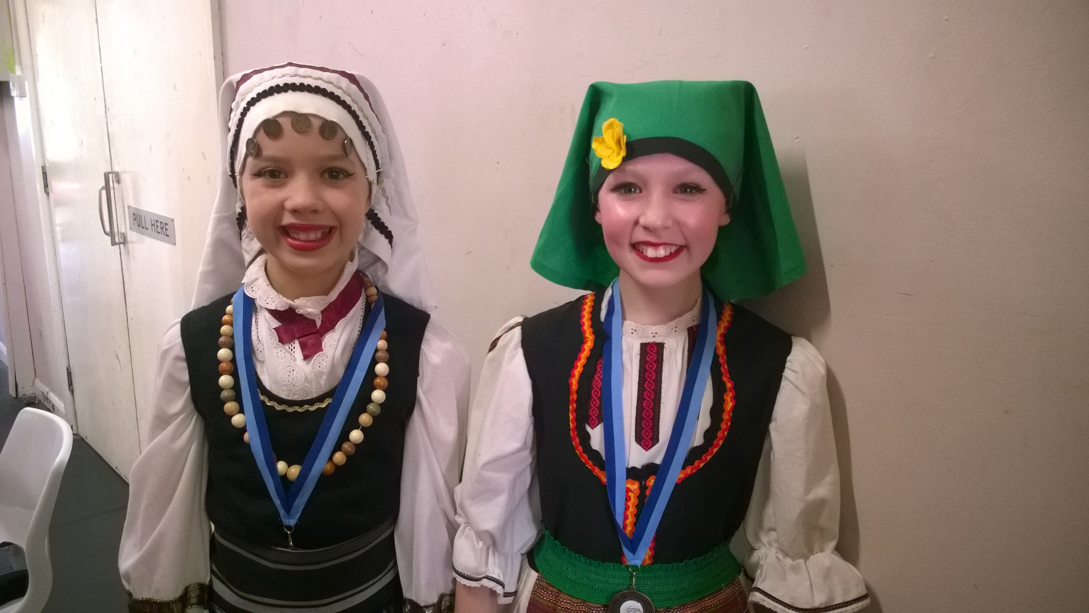 Phoebe and Molly 2nd and 3rd National solos Worthing Festival 2017