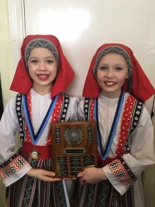 Phoebe and Molly 1st Place with Junior National Duet Worthing Festival 2017